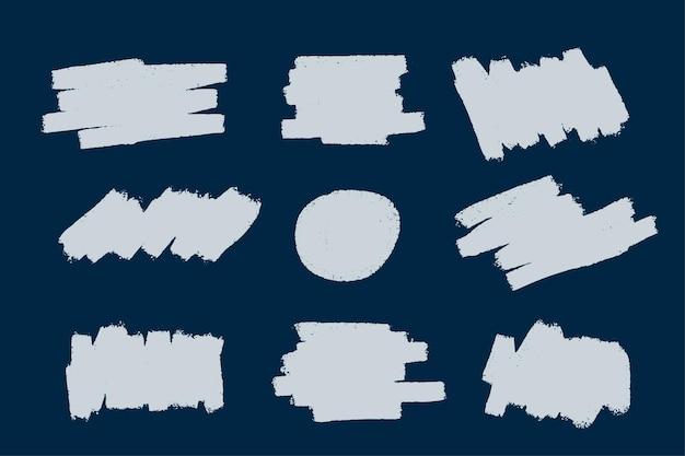 Colección de manchas de trazo de pincel grunge