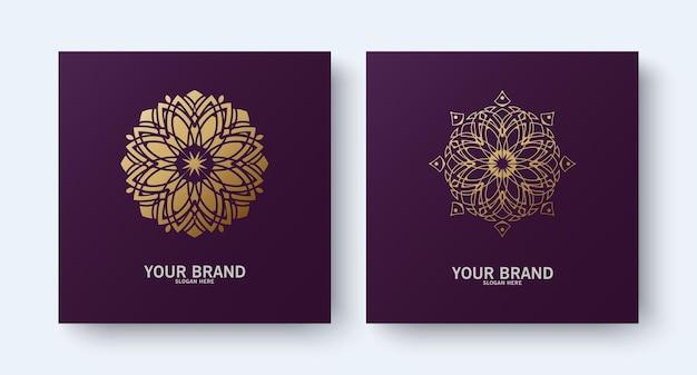 Colección mandala línea ornamento logo