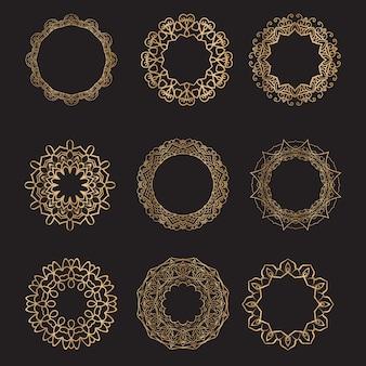 Colección de mandalas oscuros