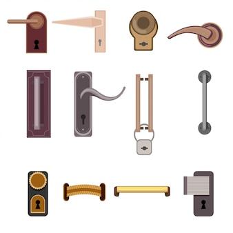 Colección de manijas de puerta modernas y elegantes