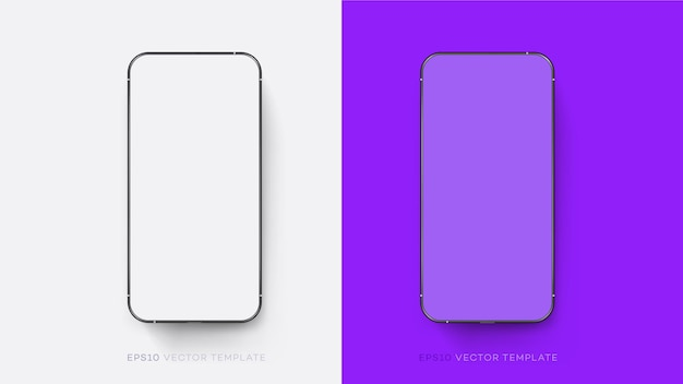 Colección de maquetas de teléfonos inteligentes