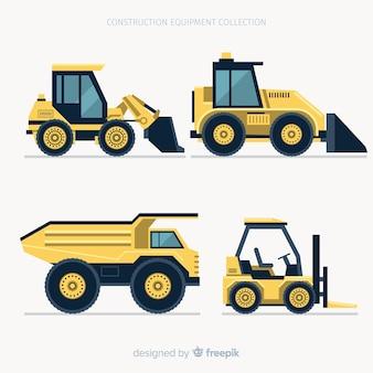 Colección máquinas de construcción planas