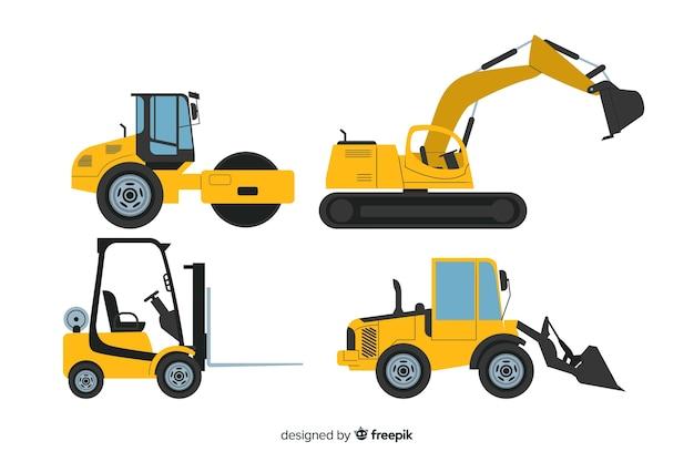 Colección máquinas planas de construcción