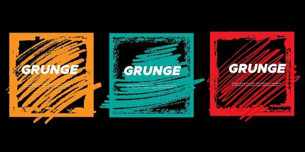 Colección de marco grunge abstracto