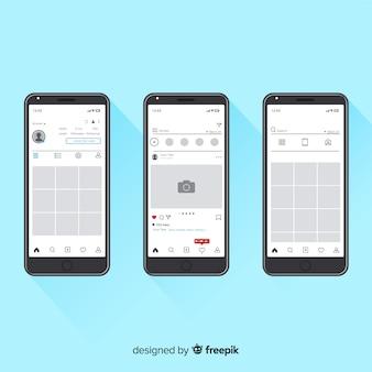 Colección marco instagram realista en iphone