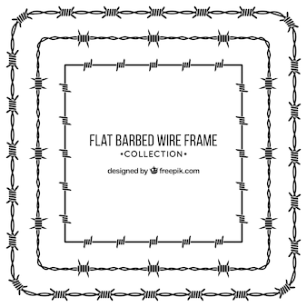 Colección de marcos de alambre de espina