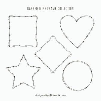 Colección de marcos de alambre de púas