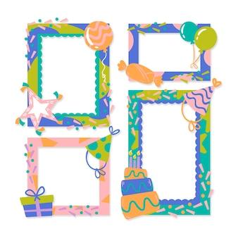 Colección de marcos de collage de cumpleaños creativos