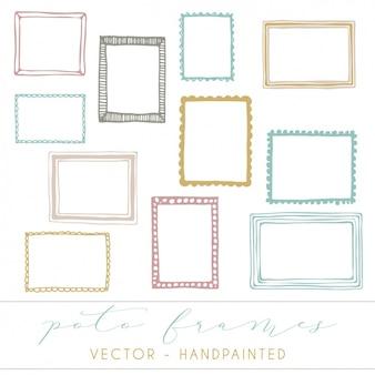 Colección de marcos a color