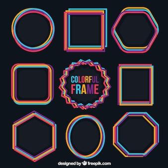 Colección de marcos coloridos