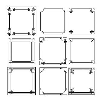 Colección de marcos decorativos ornamentales