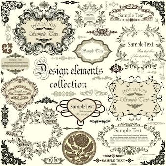 Colección de marcos de diseño