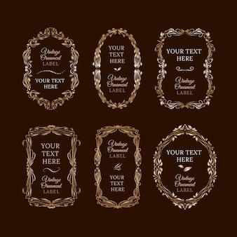 Colección de marcos dorados ornamentales