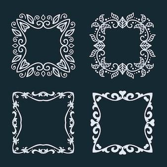 Colección de marcos elegantes.