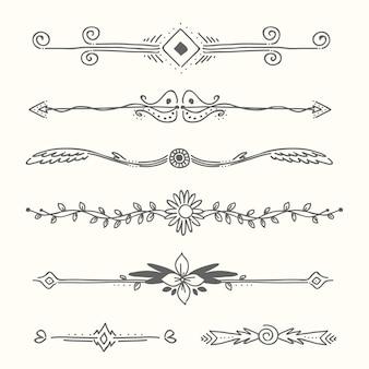 Colección de marcos y elementos ornamentales