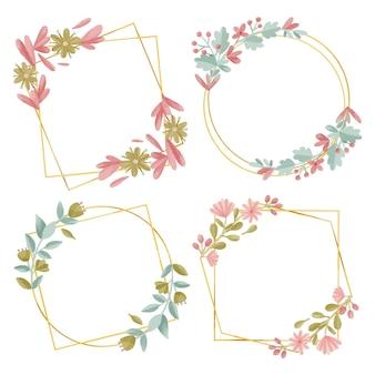 Colección de marcos florales