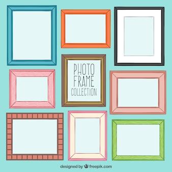 Colección de marcos de foto esbozados
