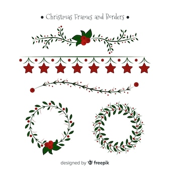 Colección marcos navideños planos
