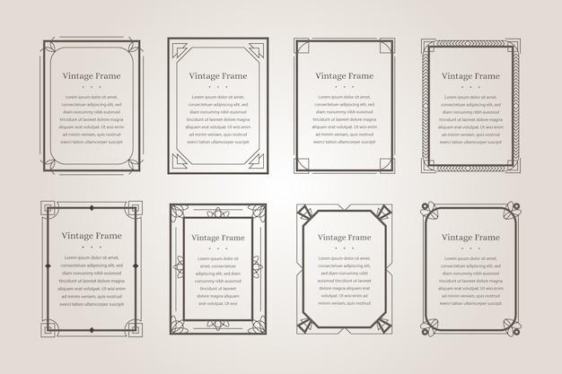 Colección de marcos ornamentales caligráficos
