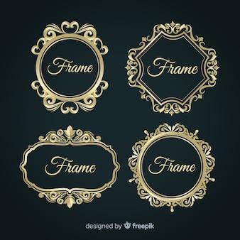 Colección de marcos ornamentales de diseño vintage