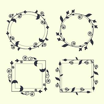 Colección de marcos ornamentales retro