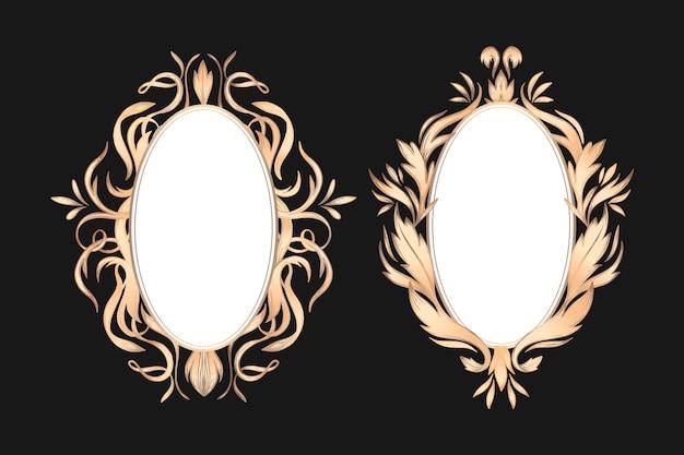 Colección de marcos ornamentales vintage