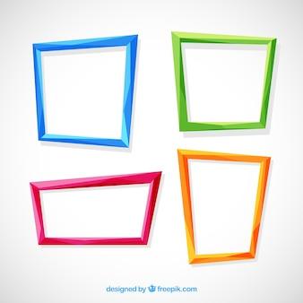 Colección de marcos planos coloridos