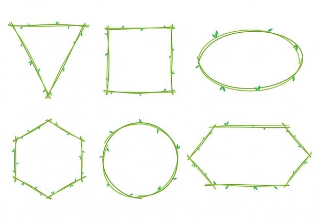 Colección de marcos de plantas de vid