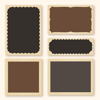 Colección de marcos de scrapbook retro