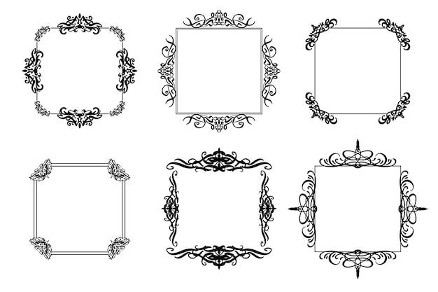 Colección de marcos vintage ornamentales