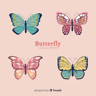 Colección mariposas realistas