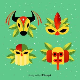 Colección máscaras carnaval planas