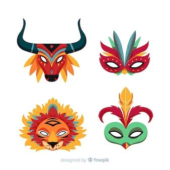 Colección de máscaras de carnaval