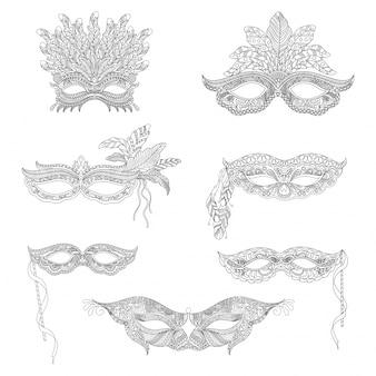 Colección de máscaras ornamentales