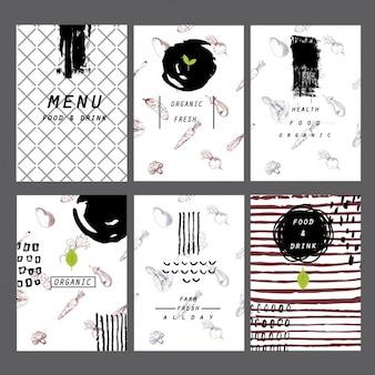 Colección de menús de restaurante