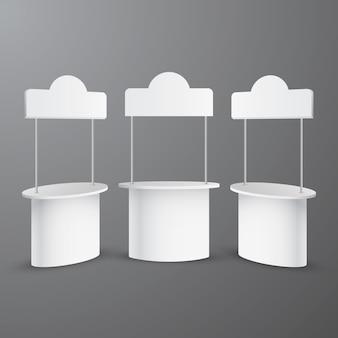 Colección de mesas de mostrador de promoción realista