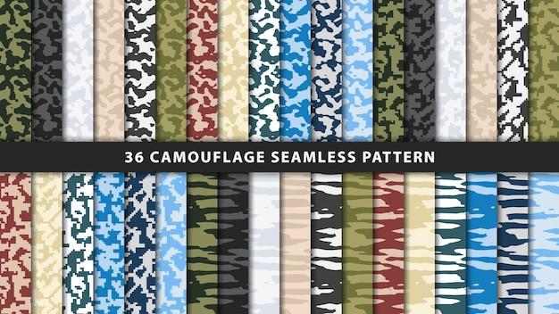 Colección militar y camuflaje del ejército de patrones sin fisuras