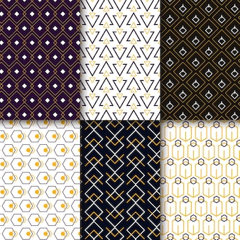 Colección minimalista de patrones geométricos