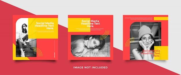 Colección minimalista de plantillas de publicaciones en redes sociales