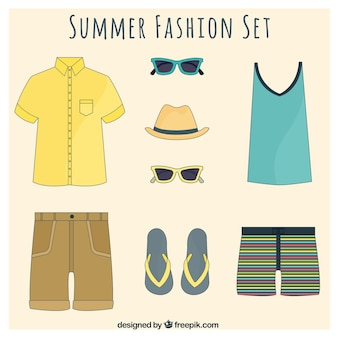 Colección de moda de verano para hombres