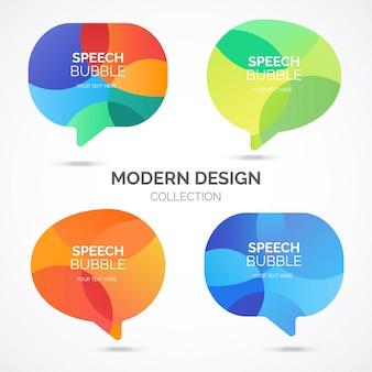 Colección modern speech bubble