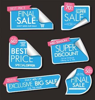 Colección moderna de banners y etiquetas de venta moderna