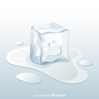Colección moderna de cubitos de hielo