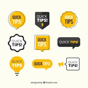 Colección moderna de consejos rápidos