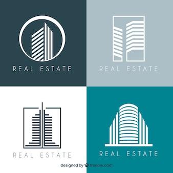 Colección moderna de logotipos inmobiliarios