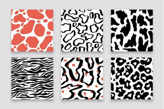 Colección moderna de estampados de animales
