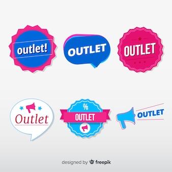 Colección moderna de insignias de outlet