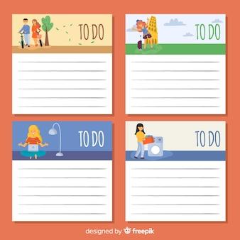 Colección moderna de listas de cosas que hacer