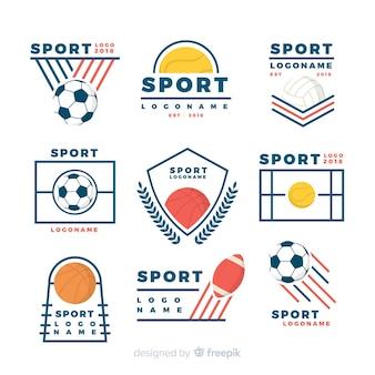 Colección moderna de logos de deporte