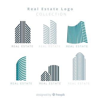 Colección moderna de logos de inmobiliaria